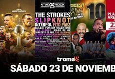 Copa Libertadores, Vivo x el rock, Una noche de salsa 10, Sebastián Yatra y todos los eventos de este sábado