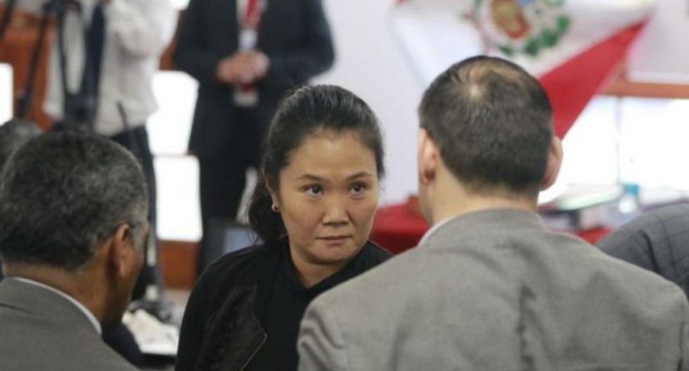 """Keiko Fujimori reiteró que no recibió ningún aporte de Odebrecht y no se reunió el presunto cabecilla de la organización criminal """"Los Cuellos Blancos del Puerto"""". (Foto: GEC)"""