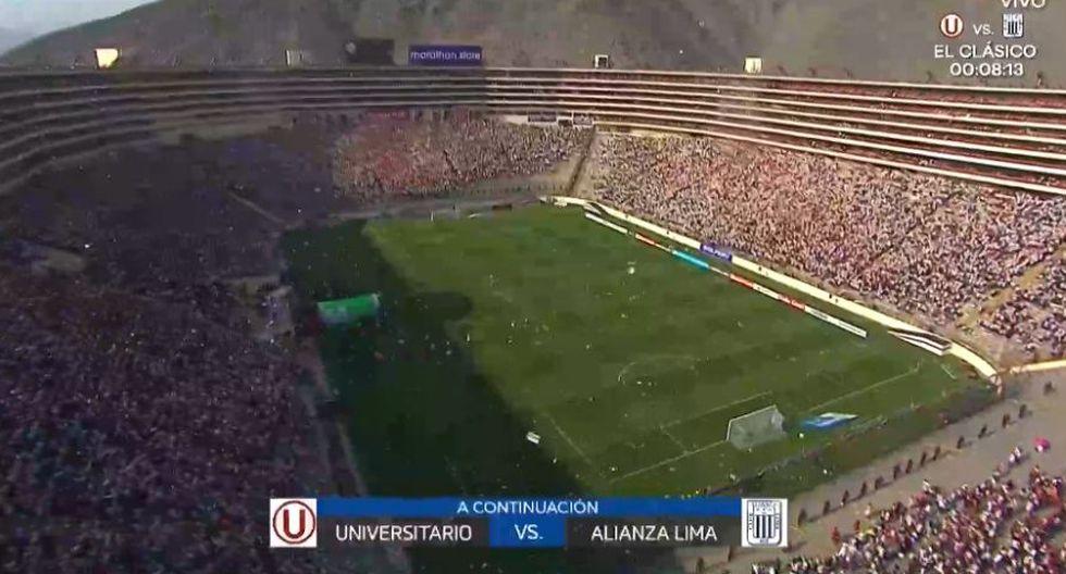 Universitario vs Alianza Lima: Salida de los equipos y la impresionante vista del Monumental en el clásico