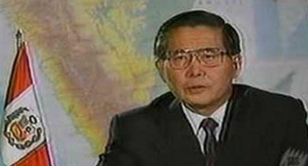 Alberto Fujimori en 1992.