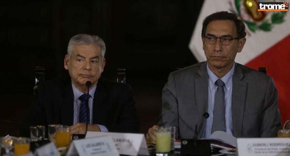 César Villanueva y Martín Vizcarra. Foto: Trome
