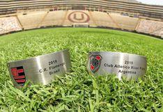 River Plate vs. Flamengo: Placas del trofeo de la Copa Libertadores para los finalistas