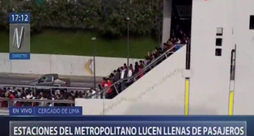 Perú vs. Colombia: Estaciones del Metropolitano colapsaron horas antes del partido