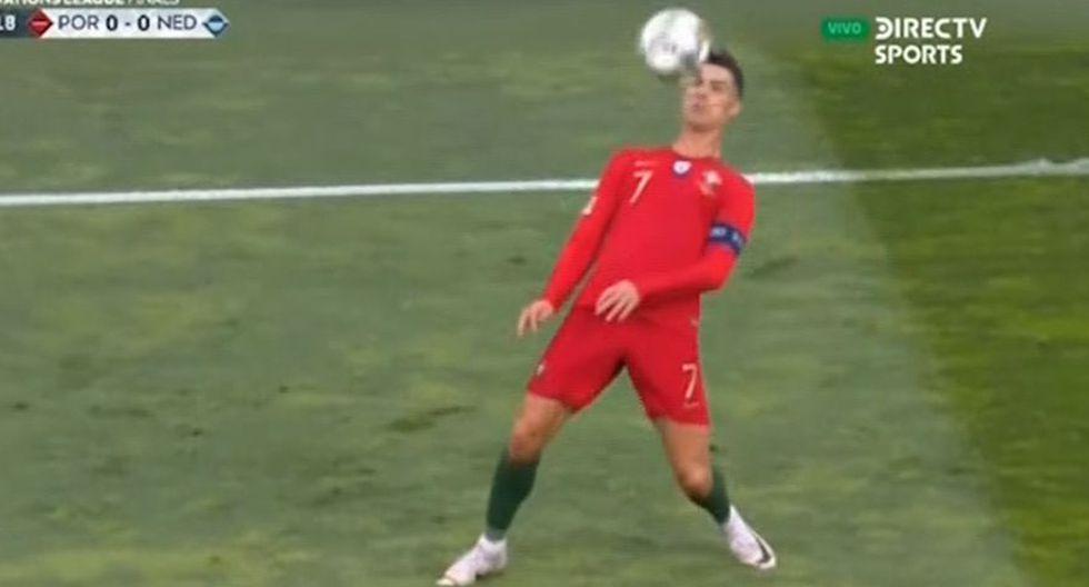 Cristiano Ronaldo de pecho