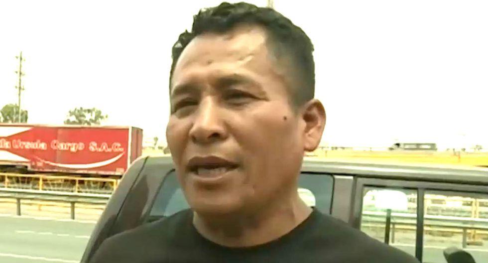 Héroe que le salvó la vida a joven que colgaba de puente en SJM (TROME)