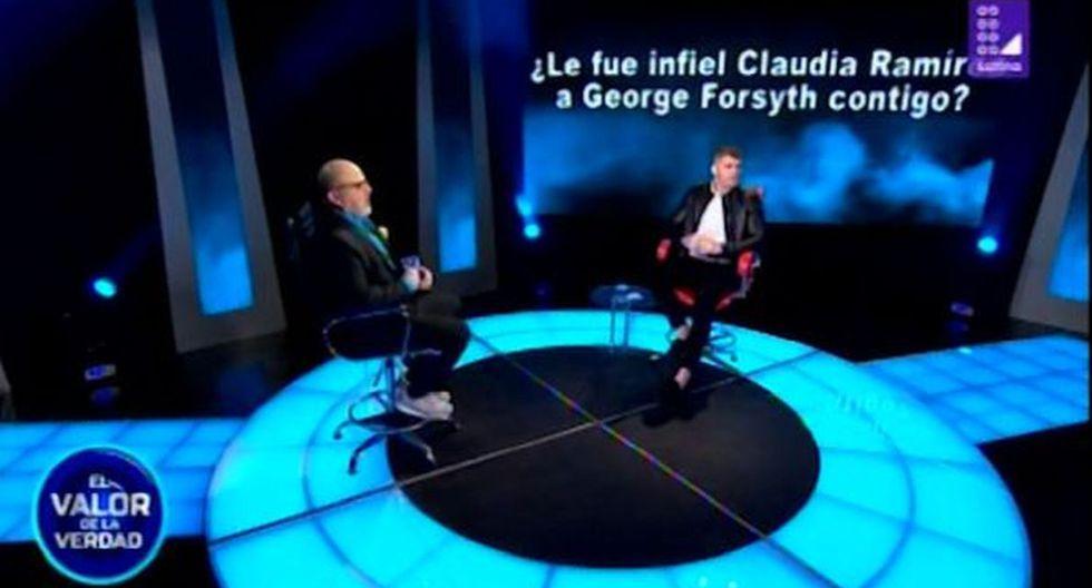 Greg Michel reveló que salió con Claudia Ramírez cuando ella era pareja de George Forsyth. (Foto: Captura de video)
