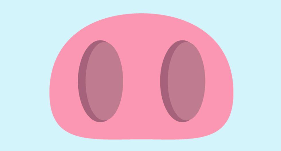 ¿Te has preguntado por qué hay una nariz de cerdo en WhatsApp? Compañía te lo explica. (Foto: Emojipedia)