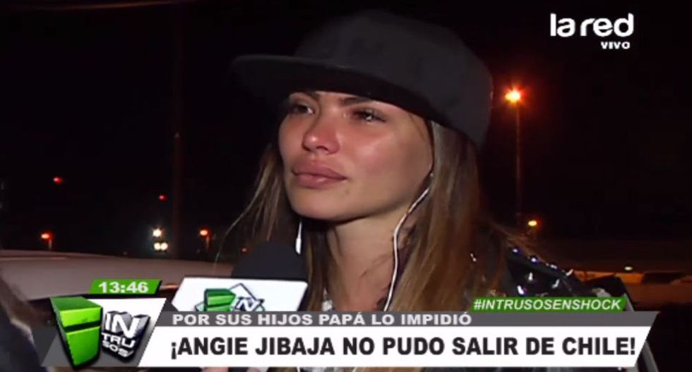 Angi Jibaja llora al recordar terrible drama