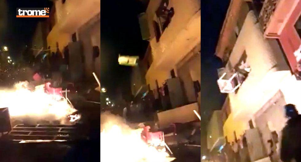 Arequipa: Indignados vecinos queman bares y capturan a venezolanos acusados de brutal asesinato de obrero