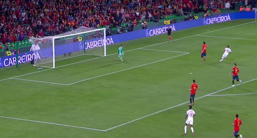 Gol 1 de Inglaterra a España